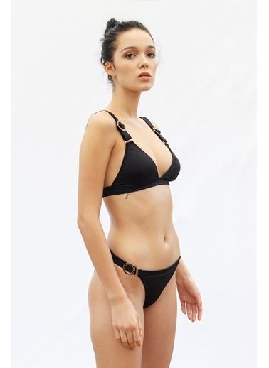 Vulevu Halka Toka Bikini Üst Siyah